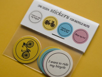 Stickers for bicycle nuts