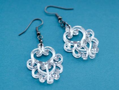 Mirror filigree earrings