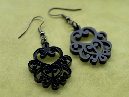Black filigree earrings