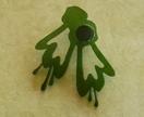 Green kowhai brooch