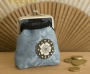 Blossom purse in blue (a)