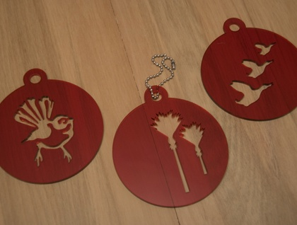 *SPECIAL* Red coffee stencils – set of 3