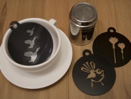 Black coffee stencils – set of 3