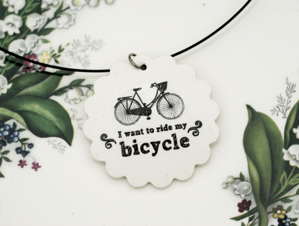 Bicycle scallop pendant