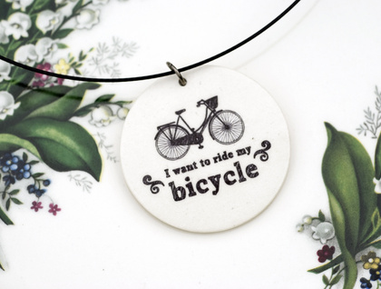 Bicycle circle pendant