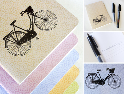 Blue bicycle notebook