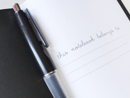 Orange bicycle notebook