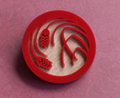 Red sweet wheat brooch