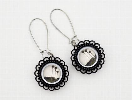 Victorian nikau earrings