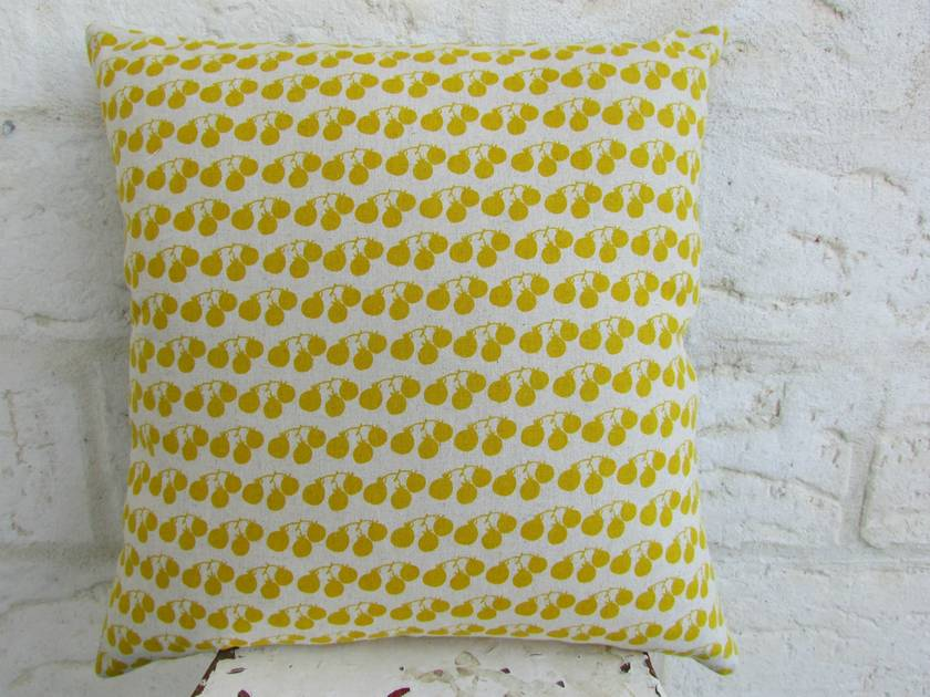 Charcoal grey cushion cover with mustard X | Felt