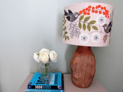 Stitched Bird Lampshade 30cm