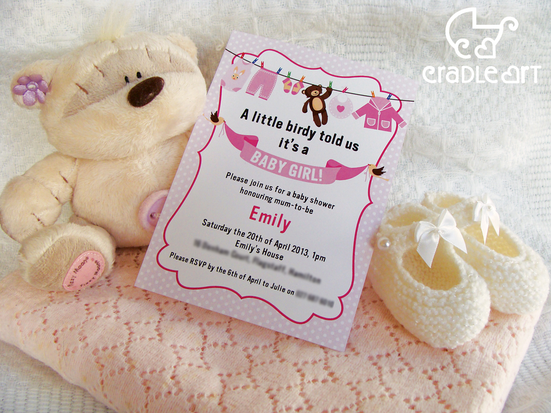gorgeous personalised baby shower invitations felt