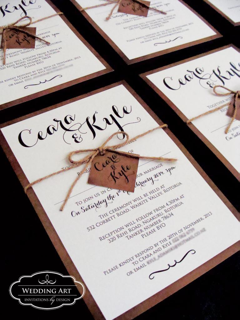 Rustic Wedding Invitations | Felt