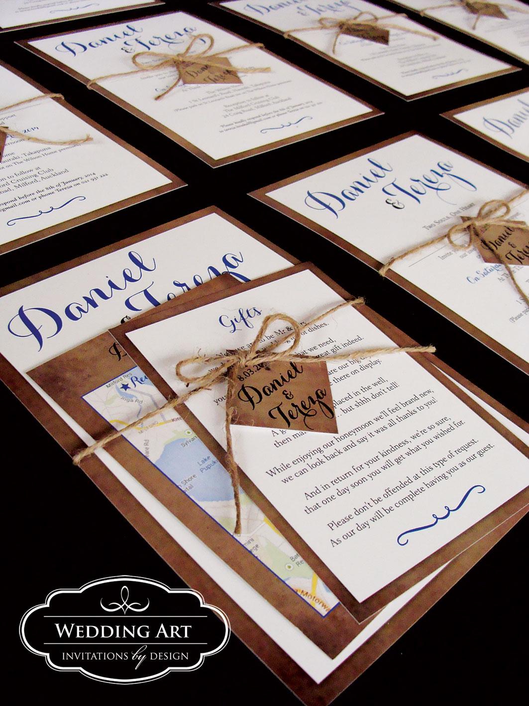 Rustic Wedding Invitations Felt