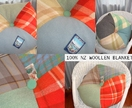 Woolen hexagonal cushions