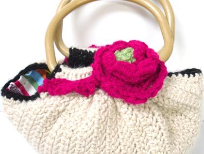 Crochet Fat Bottom Bag Small Felt