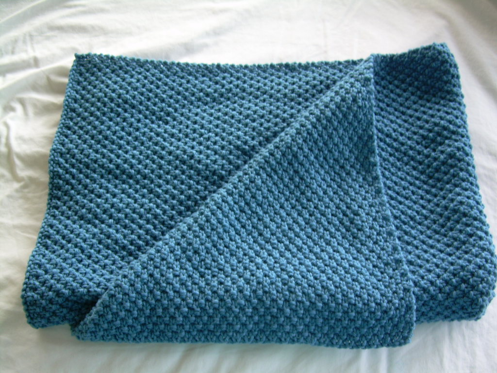 Knitted Blanket Patterns Nz : Baby Blanket, Fine merino Hand Knitted in Moss stitch Felt