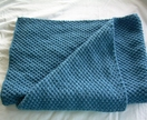 Baby Blanket, Fine merino Hand Knitted in Moss  stitch