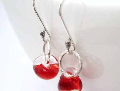 Molten Raindrop Sterling Silver Earrings
