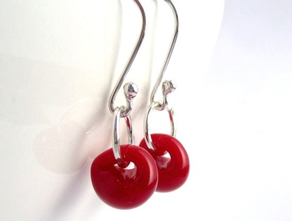 Cherry Pop Drop Sterling Silver Earrings