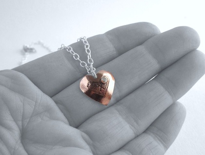 X My Heart Copper & Sterling Silver Necklace