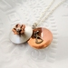Forget Me Not Sterling Silver & Copper Locket Necklace