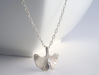 Ginkgo Necklace Sterling Silver