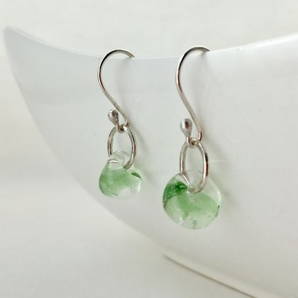 Peridot Dewdrop Earrings in Sterling Silver
