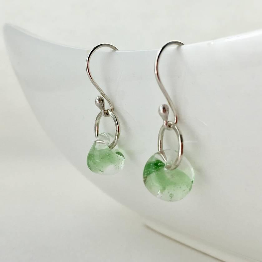 Peridot Dewdrop Earrings in Sterling Silver