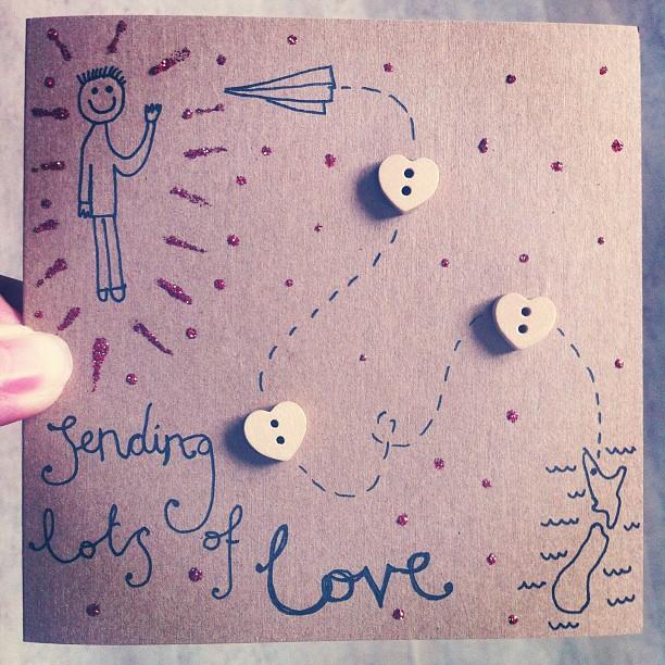 Handmade Greeting Card Happy Birthday Felt