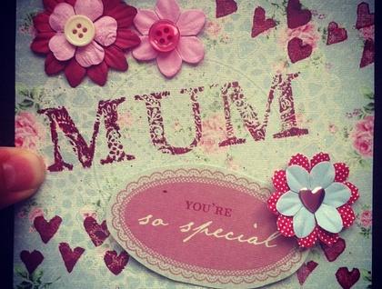 handmade greeting card mother s day mum felt