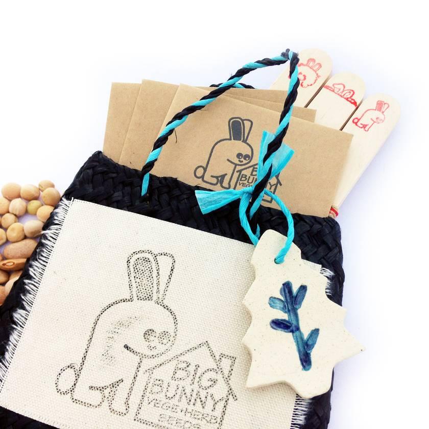 Big Bunny's Vege Seed Gift Kete