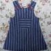 Vintage Inspired Pinafore - Blue stripe