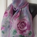 Rose Silk Scarf Hand Painted 150cm x 29cm New Zealand handmade