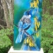 New Zealand Tui Bird on Kowhai Tree,Outdoor Wall Art, 50cm x 23cm