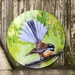 New Zealand FANTAIL BIRD, CIRCLE OUTDOOR, Garden or Inside Wall ART Panel. 45cm Diameter