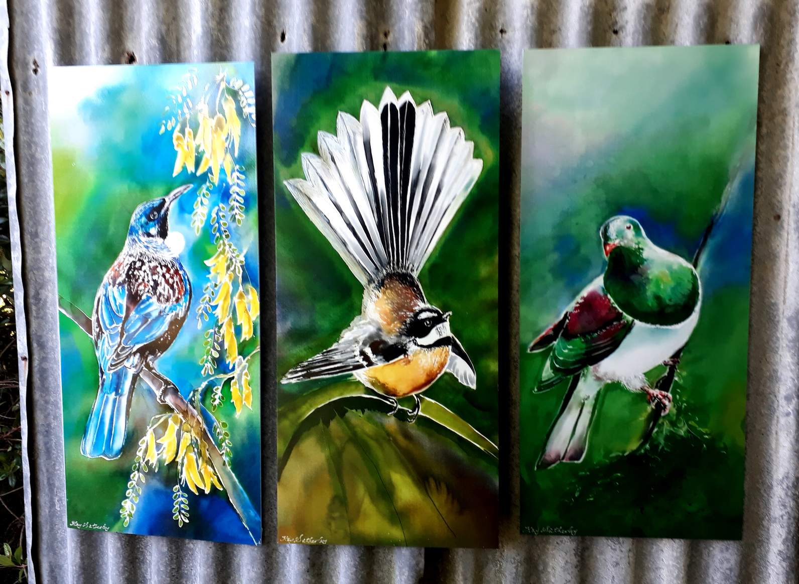Outdoor Wall Art Special Price For 3 Birds New Zealand Tui On