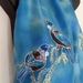 New Zealand TUIS & Kowhai Tree, Hand Painted Silk Scarf
