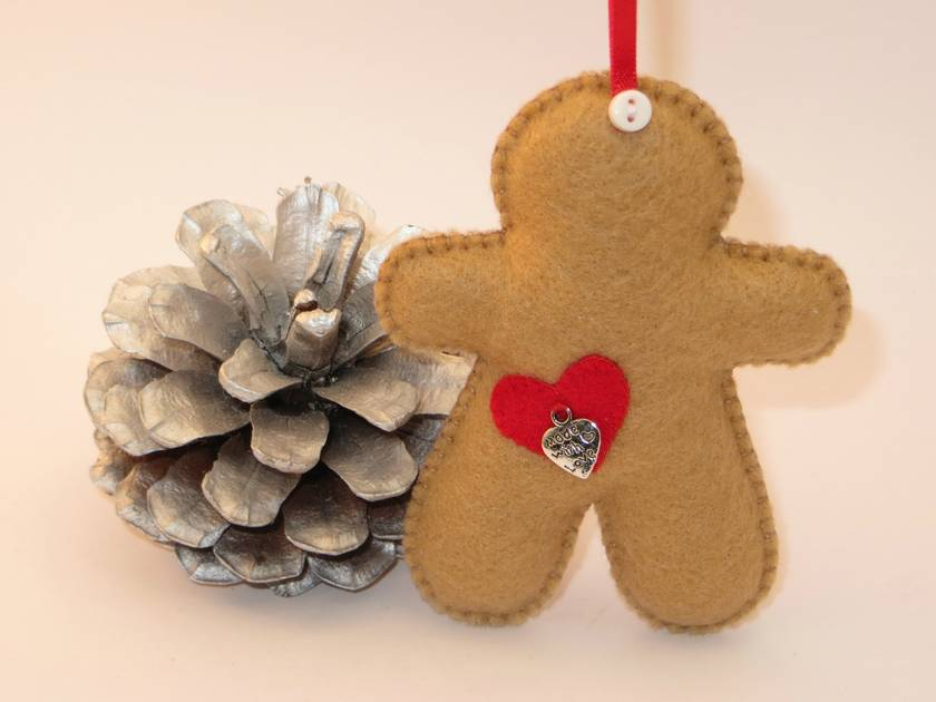 Felt Gingerbread Man Ornament - JoyBelles