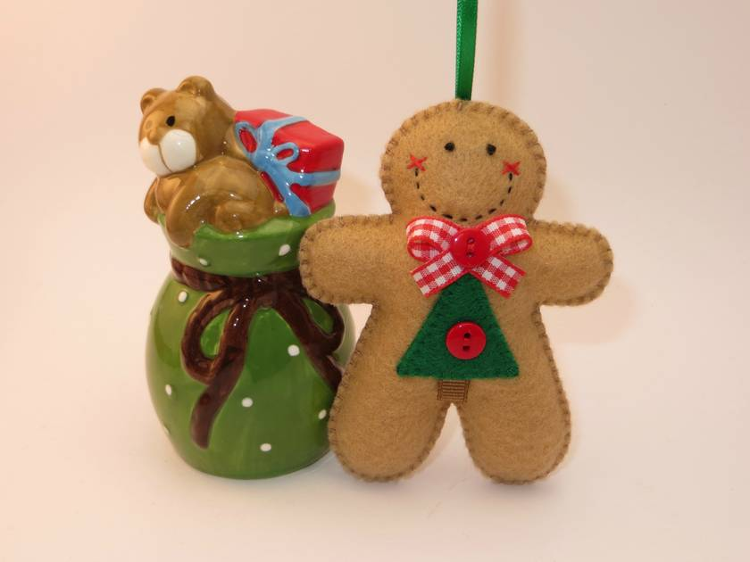 Felt Gingerbread Man Ornament - Sprucey