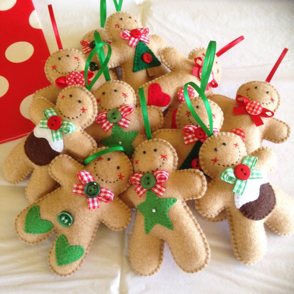 Felt Gingerbread Man Ornament - McJingle