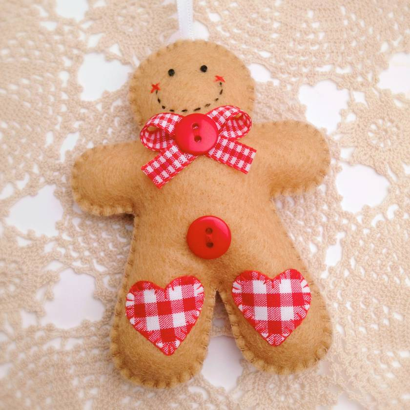 Felt Gingerbread Man Ornament - McPixie | Felt