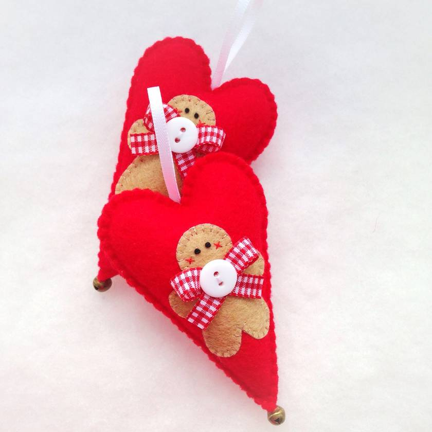 Gingerbread Man Christmas Heart