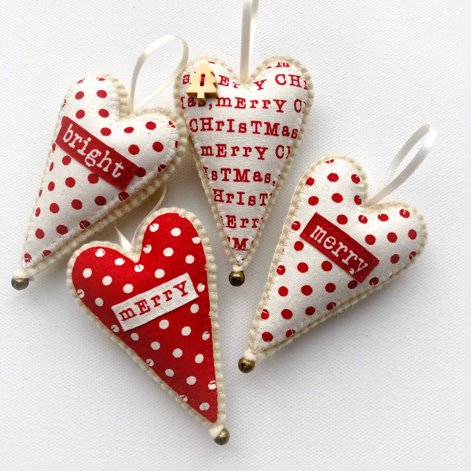 Scandi Merry Christmas Heart | Felt