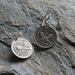 Three Pence Earring on Sterling Silver