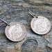 Six Pence Earring on Sterling Silver