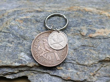 Penny / Three Pence Key Ring