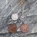 Three Pence / Two cent Earrings on Sterling Silver Chain