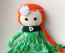 ZEALOUS DESIGN DRESS-UP DOLL - Red haired lass wearing green