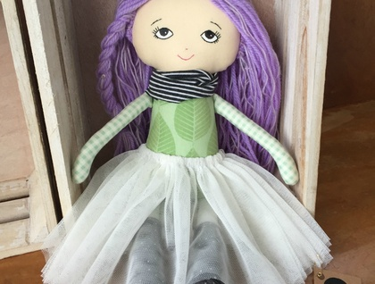 ZEALOUS DESIGN HEIRLOOM VINTAGE DOLL - Lavender sparkle ***SALE***